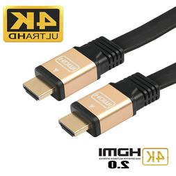 1-10M 4K HD Ultra High Speed 2.0 HDMI Flat Video Cable Cord