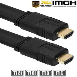 1.5ft-15ft Premium Flat Audio Video HDMI Cable 1080P 3D For