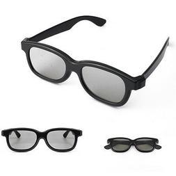 1 Pairs Black Passive 3D Glasses Family Home For Panasonic S