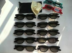 10 Pairs Adult +2 Kids  Passive 3D Glasses work for VIZIO LG