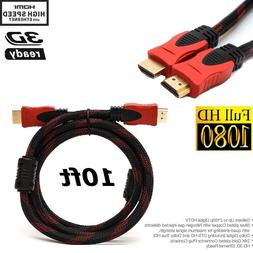 10FT HDMI CABLE For BLURAY 3D DVD PS3 HDTV XBOX LCD HD TV 10