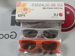 2 Boxes  of LG Cinema 3D Glasses AG-F200 - Orange and White