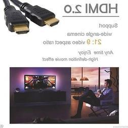 2 x PREMIUM HDMI 2.0 CABLE 6FT 4K BLURAY 3D PS4 Samsung LG C