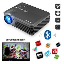 CAIWEI Android 6.0 Multimedia LCD Projector Bluetooth 1080P