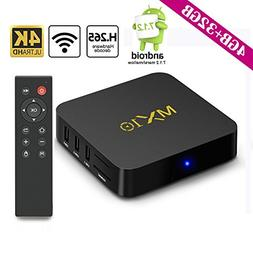 2018 Upgrade Android TV Box 4G+32GB Smart Digital 3D/4K/WIFI
