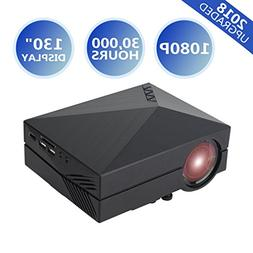 【2018 UPGRADED】Home Theater Projector Video Projector Fu