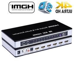 2019 HDMI Switch Switcher 5x1 HDMI Audio Extractor 4Kx2K 3D