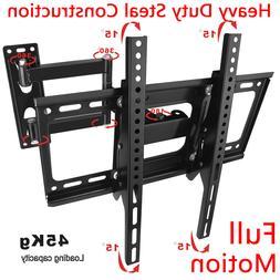 """26""""-52"""" Double Arm Tilt & Swivel TV Wall Mount Bracket Spi"""