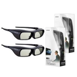 2X New Original Black Sony TDG-BR250 Active Shutter 3D Glass