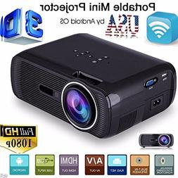 5000 Lumens Full HD 1080P LED LCD 3D PC AV VGA HDMI TV Home