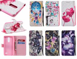 3D Butterfly Wallet Leather case fr LG Rebel 4 /K9 2018/K30