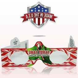 3D Christmas Glasses - 50 Pack - 5 Of Each! Turn Holiday Lig