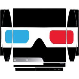 3D Glasses Red and Blue Lens Playstation 3 & PS3 Slim Vinyl