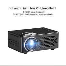 Tiean 7000 Lumens 3D Mini Projector,1080P Full HD LED Video