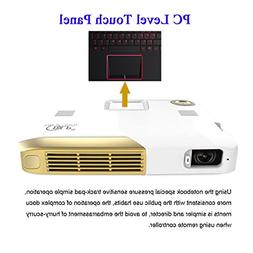 Deeirao 3D Portable DLP Home Theater Projector Android4.4 Oc