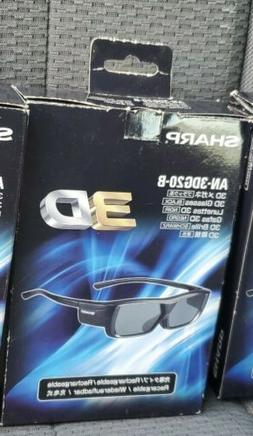 Sharp 3D Rechargeable Glasses for Aquos LCD TVs Model AN-3DG