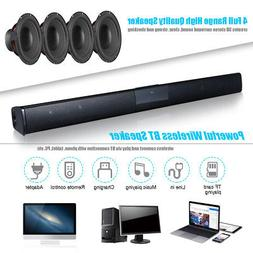 3D Surround TV Soundbar Wireless BT4.0 Speaker RCA Line Remo