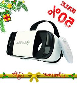 3D VR Headset with Remote Virtual Reality Glasses for 3D Mov