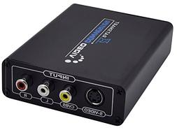 3RCA AV CVBS Composite and S-Video R/L Audio to HDMI Convert