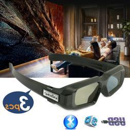 3x Active Shutter 3D Glasses Bluetooth for BenQ Epson HD Viv