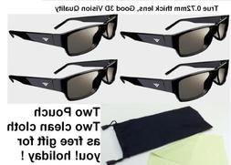 4 Packs VIZIO XPG202 Theater 3D Passive 3D Glasses