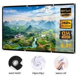 4K 120 inch 16x9 HD 3D TV Projector Screen Outdoor Movie Por