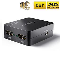 Cingk 4k HDMI 1 Input 2 Output Powered Splitter Signal Ampli