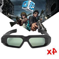 4Pcs Active 3D Glasses for 2012-2015 3D TV Sony Panasonic Sh