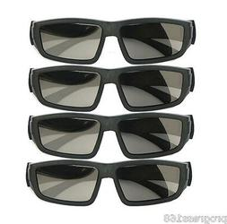 4PCS IMAX Glasses Passive Polarized 3D Glasses for RealD Cin