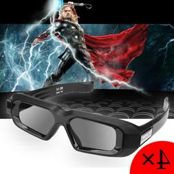 4xBluetooth Active 3D Glasses TV 3D Movie Home Theater USB R