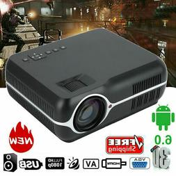 HD 1080P LED 3D LCD VGA HD*2 USB*2 TV Home Theater Projector