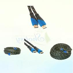 50FT HDMI CABLE 1.4 1080P ETHERNET BLURAY 3D TV DVD PS3 HDTV