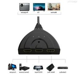 5E62 3 Port 3D Video Cables HDMI Switch DVD Players Televisi