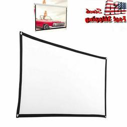 60 ~120 inch 16x9 HD 3D TV Projector Screen Outdoor Movie Po