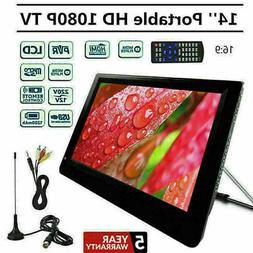 "7''/9''/10''/12''/14"" Portable Digital TV 1080P HD Video USB"