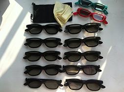 Beyution NEW 10 Pairs Adult + 2 Pair Kids Passive 3D glass G