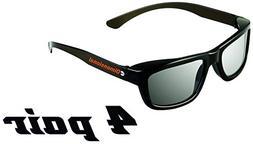 ED 4 Pack Passive Theater Circular 3D Glasses For Vizio 3D T
