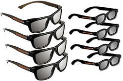 ED 8 Pack Cinema 3D Glasses for LG 3D TVs Adult & Kids Sized