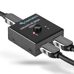 Fosmon 2x1 or 1x2 2 Port Ultra HD 4K@60Hz HDMI Bi-Directiona