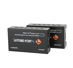 J-Tech Digital HDMI Extender By Single Cat 5E/6/7 Full Hd 10