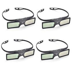 PERGEAR 4xG15-DLP 144Hz 3D DLP-Link Active Glasses for Optom