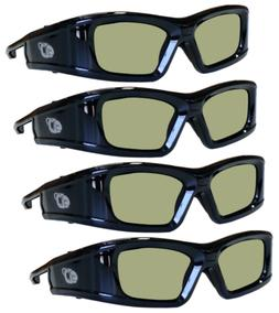 SAMSUNG 4 PACK Compatible eDimensional RECHARGEABLE 3D Glass