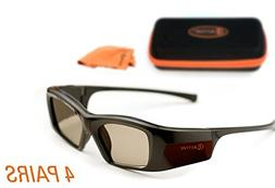 3ACTIVE SAMSUNG-Compatible 3D Glasses. Rechargeable. MULTI-P