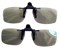 TOUQIANMAO 2 Pack CINEMA Clip-On 3D GLASSES For LG 3D TVs -