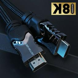 Alloy Braided HDMI 2.1 Cable  3D Ethernet HDR 48Gbps Smart T