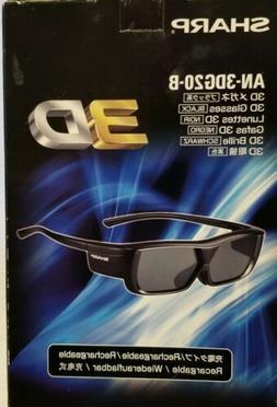 SHARP AN-3DG20-B 3D Glasses for AQUOS TVs