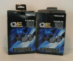 Sharp AN-3DG20-B Rechargeable Active Shutter 3D Glasses for
