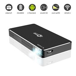 Ivishow Android 7.1 Mini Smart Projector, Pocket Portable DL