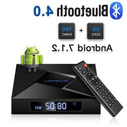 Globmall 4K Android 7.1 TV Box, 2018 Model X4 Smart TV Box 2