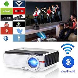 """200"""" LCD LED HD Android Projector Wifi 4200 Lumen WXGA 3D, M"""